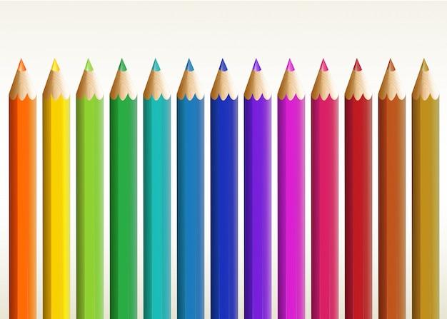 Kolorowe długie ołówki