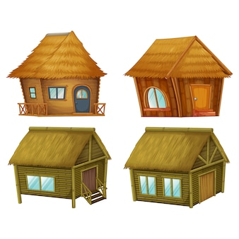 Kolorowe domki kolekcji
