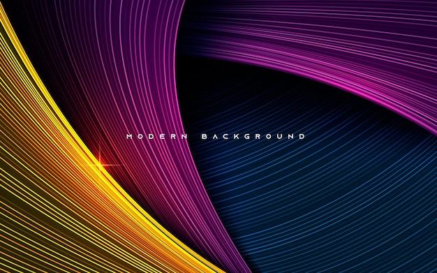 Kolorowe dynamiczne warstwy wymiaru tła efektu linii