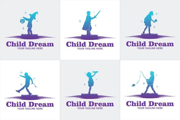 Kolorowe dziecko osiągające wektor logo gwiazdy, szablon projektów logo edukacji, koncepcja projektu, logo, element logo dla szablonu