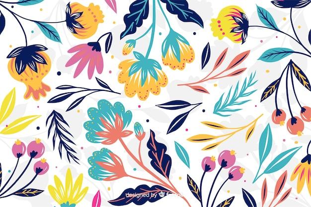 Kolorowe egzotyczne kwiaty ozdobne tło