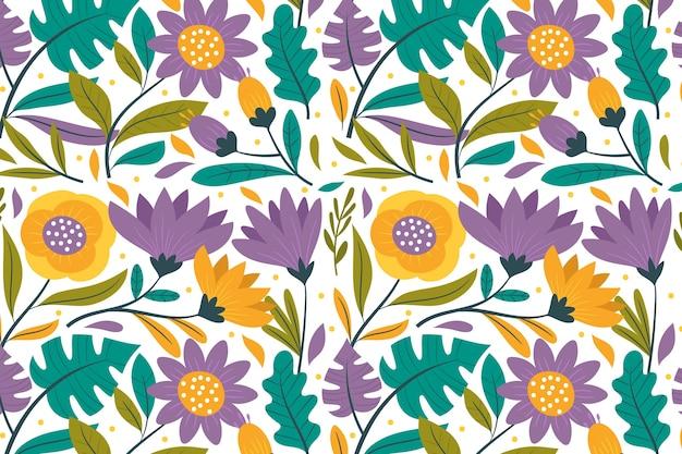 Kolorowe egzotyczne tapetę z motywem kwiatowym