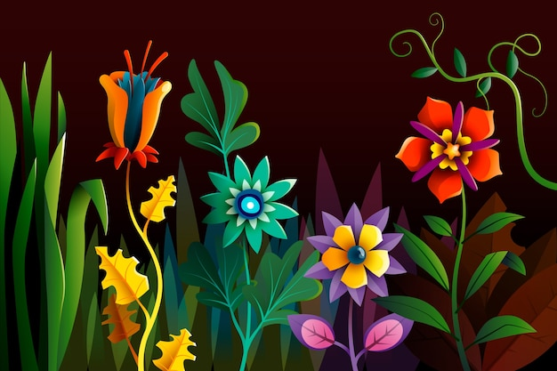 Kolorowe egzotyczne tło kwiatowy