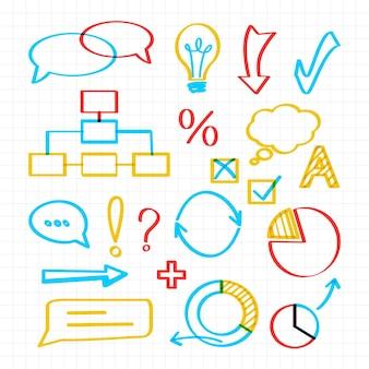 Kolorowe elementy infografiki szkoły