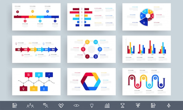 Kolorowe elementy infographic