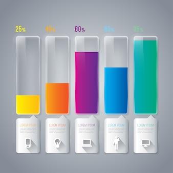 Kolorowe elementy wykresu do prezentacji