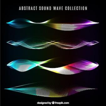 Kolorowe fale dźwiękowe z abstrakcyjnych wzorów
