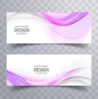 Kolorowe faliste banery