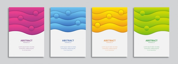 Kolorowe faliste kształty a4