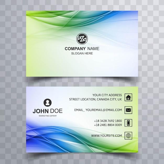Kolorowe faliste wizytówki