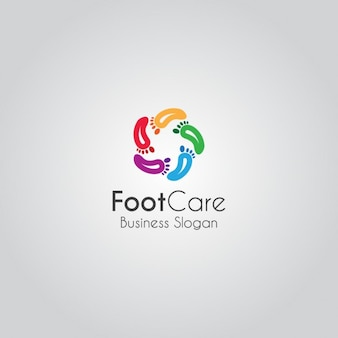 Kolorowe feet logo