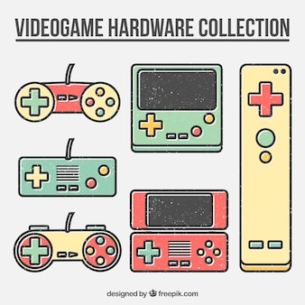 Kolorowe gamepady