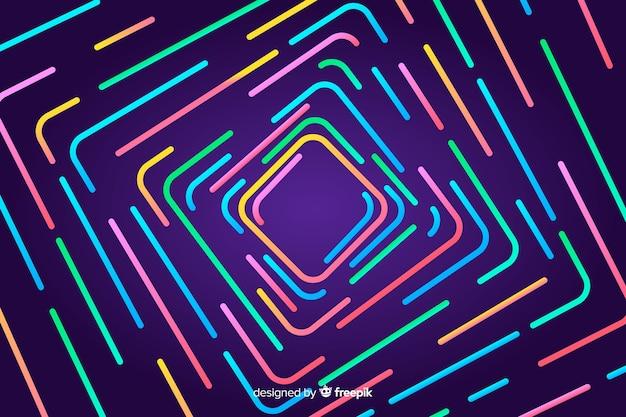 Kolorowe geometryczne linie abstrakcyjne tło