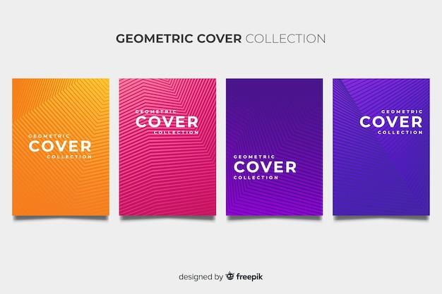 Kolorowe geometryczne linie broszury