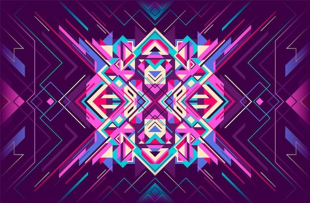 Kolorowe geometryczne streszczenie tło