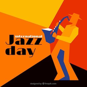 Kolorowe geometryczne tle jazz