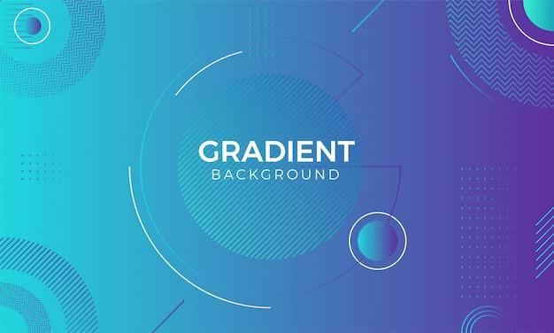 Kolorowe geometryczne tło gradientowe. kompozycja płynnych kształtów gradientu. na plakat, baner, stronę docelową.