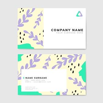 Kolorowe geometryczne wizytówki w stylu memphis
