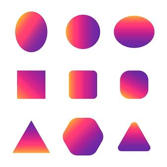Kolorowe gładkie kształty gradientu
