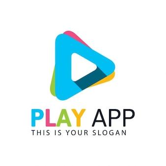 Kolorowe gra logo