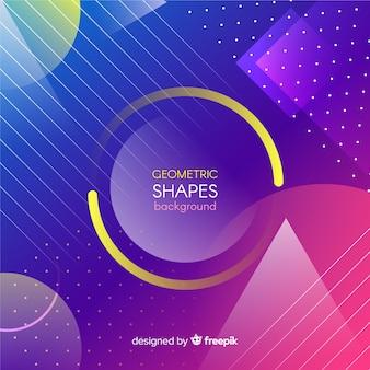 Kolorowe gradientowe kształty geometryczne tło