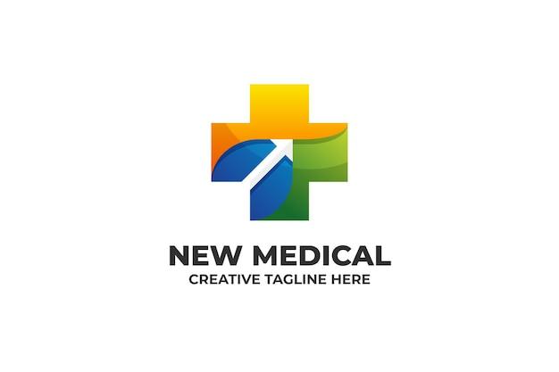 Kolorowe gradientowe logo medyczne opieki zdrowotnej
