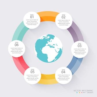 Kolorowe grafiki wektorowe dla prezentacji biznesowych.