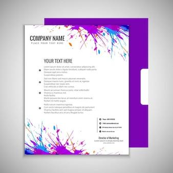 Kolorowe grungy broszura
