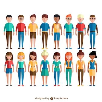 Kolorowe grupy społecznej