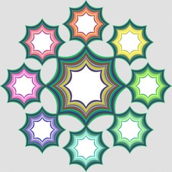 Kolorowe gwiazdki ramki