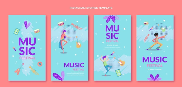 Kolorowe historie o festiwalu muzycznym na instagramie