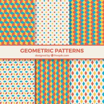 Kolorowe i zabawne geometryczny wzór
