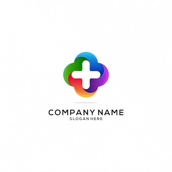 Kolorowe ikony logo zdrowia i opieki