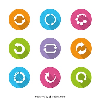 Kolorowe ikony preloader