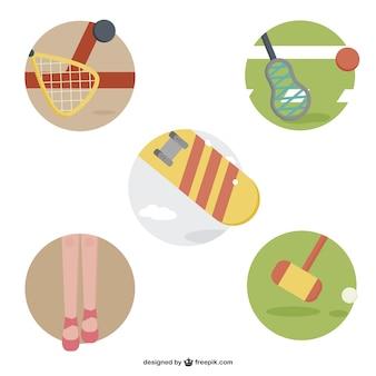 Kolorowe ikony sportowe opakowanie