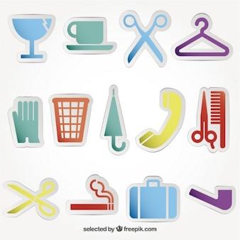 Kolorowe ikony usługi