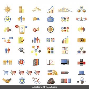 Kolorowe ikony witryny kolekcji