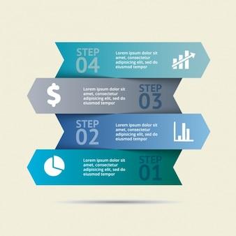Kolorowe infografika szablon