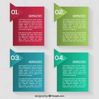 Kolorowe infographic etykiety