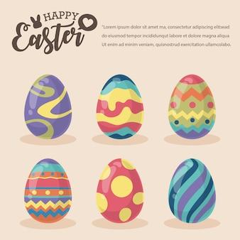 Kolorowe jajka i wesołych świąt wielkanocnych