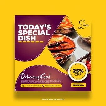 Kolorowe jedzenie w restauracji zdrowe specjalne menu menu społecznościowe media minimalny post