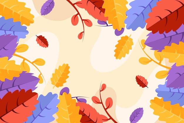 Kolorowe jesienne liście tło