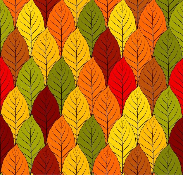 Kolorowe jesienne liście wzór