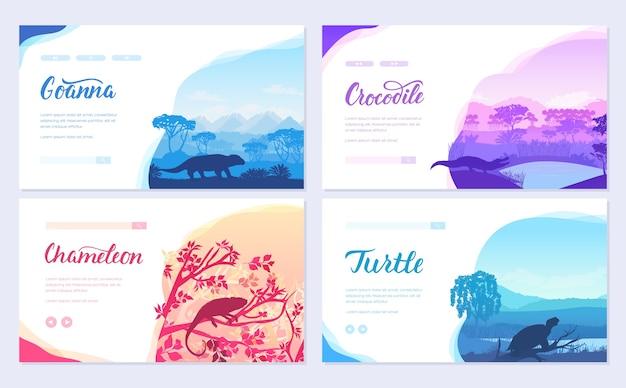 Kolorowe karty z dziką przyrodą