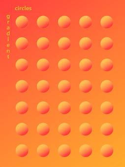 Kolorowe koła gradientowe. płynny kształt koloru. płynne tło. modna abstrakcyjna okładka. plakat futurystyczny projekt.