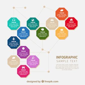 Kolorowe koła infografika