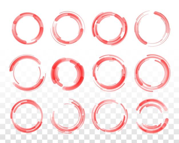 Kolorowe koło. linie kołowe.