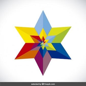 Kolorowe koncentryczne gwiazdek