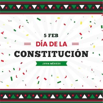 Kolorowe konfetti dzień konstytucji meksyku