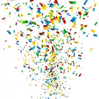 Kolorowe konfetti w tle